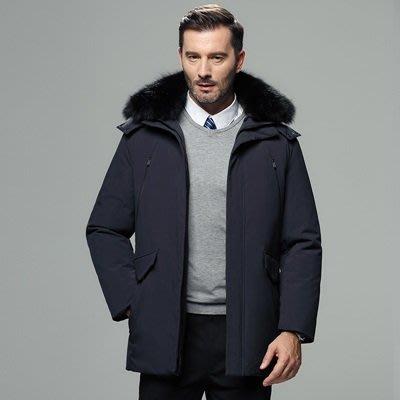 羽絨 外套 連帽夾克-狐狸毛領純色短款男外套4色73un16[獨家進口][巴黎精品]