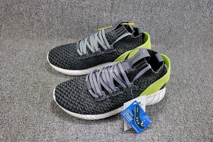 Adidas Tubular Doom Sock PK 黑綠 經典 編織 休閒運動慢跑鞋 男女鞋 CQ2484
