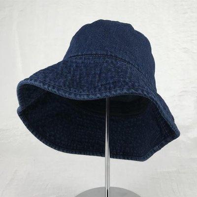 牛仔帽日系復古牛仔布帽春夏天戶外大沿遮陽帽子女漁夫帽休閑盆帽太陽帽 可開發票