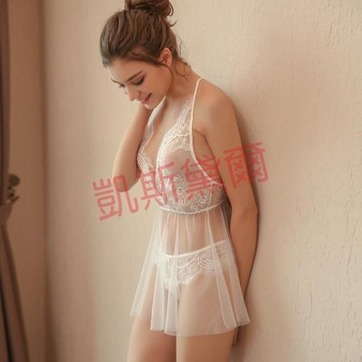 [18-12-12新款]赤芯 性感睡衣透明騷情趣內衣吊帶蕾絲大碼女夏秋睡裙火辣成人
