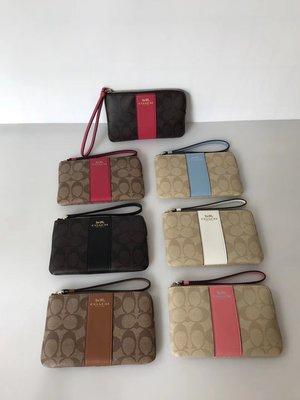 NaNa代購 COACH 54629 58035 手拿包 可放iphone7 多色可選 L型拉鏈 出門便攜 附購證