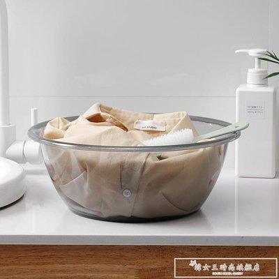[優品購生活館]家用圓形透明洗臉盆加厚塑料洗衣盆抖音同款嬰兒寶寶洗腳盆成人igo