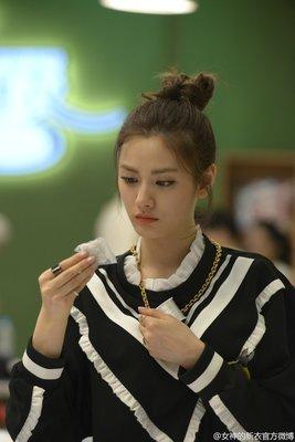 韓國實境秀 Roommate 林珍娜  NANA T-ARA 孝敏 小香風造型蕾絲荷葉洋裝