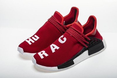 """Adidas NMD Human Race """"Red""""紅 休閒運動 BB0616 Real Boost 男女免運"""