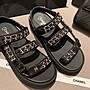 Chanel 香奈兒 經典百搭涼鞋 涼托 增高 鏈條款 好美的鞋子 二手優惠