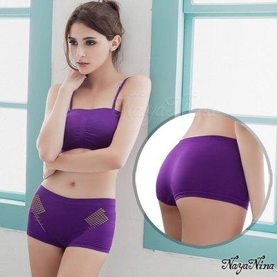 【Pretty Maid】愛褲 無縫透氣洞洞中低腰平口褲 S/M 紫 NA15350008