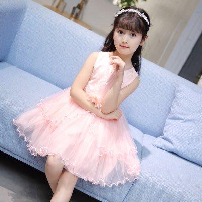 童裝公主裙女童蓬蓬洋裝夏裝中大兒童女孩洋氣裙子禮服 韓語空間