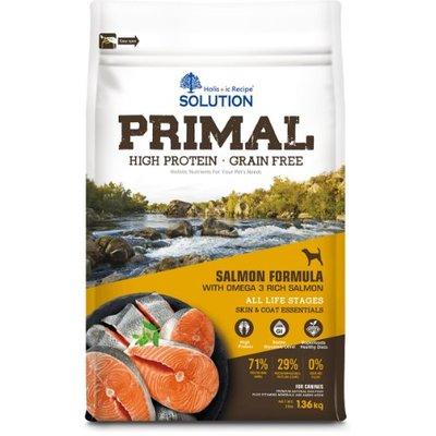【饅頭貓寵物雜貨舖】SOLUTION PRIMAL 耐吉斯 源野高蛋白 無穀全齡犬鮭魚配方 3磅