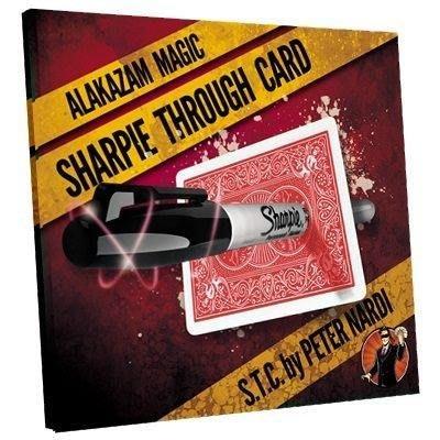 【意凡魔術小舖】美國原版 ~Sharpie Through Card STC by Alakazam Magic無敵穿牌