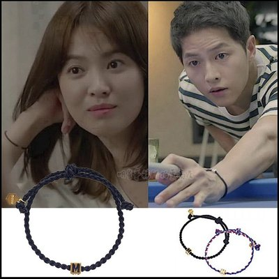 K-POP Market。韓國進口MZUU官方正品 宋仲基 宋慧喬 太陽的後裔 同款 ALOHA 3 情侶鏈手繩幸運手鍊