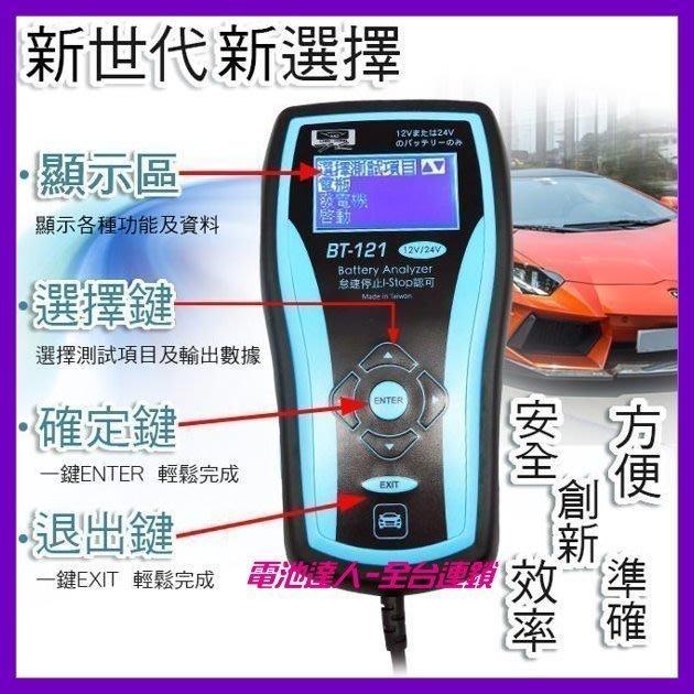 【鋐瑞電池】BT-121 專業級 VAT-570 12V 24V 汽車電池 可測 AGM電池 58514 60044