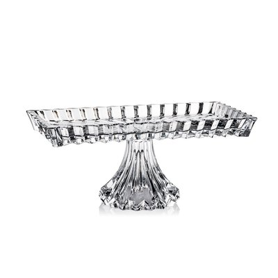 Luxury Life【預購】Rogaska Crown Jewel S/1 皇冠之寶系列 手工水晶 方形高腳 蛋糕盤