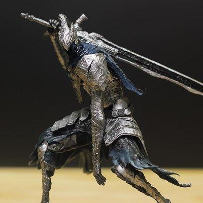 小麥   暗黑之魂法漢騎士深淵行者銀騎士雕像手辦模型擺件袋裝祖國版