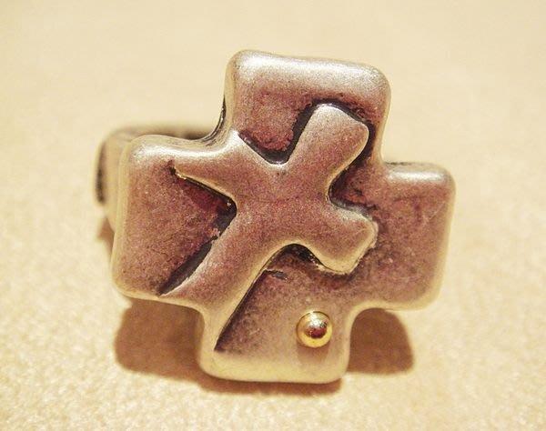 全新國外帶回,古銀十字架造型戒指,低價起標無底價!本商品免運費!