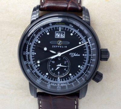 《寶萊精品》ZEPPELIN 齊柏林黑白色系男子錶