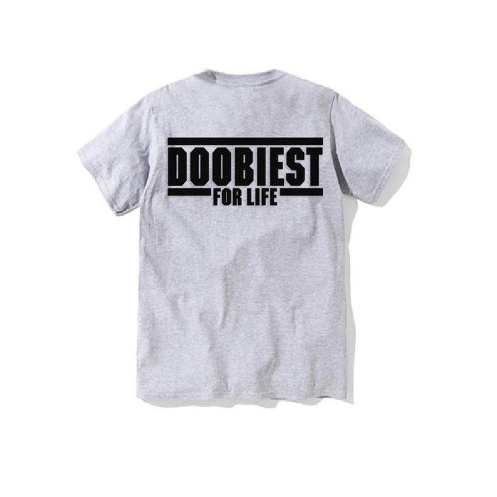 【DOOBIEST】- DOOBIEST FOR LIFE Tee (灰)