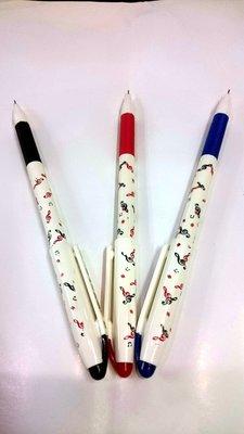 ╰☆美弦樂器☆╯中性筆  一組/三色(藍.黑.紅)獨家設計圖款