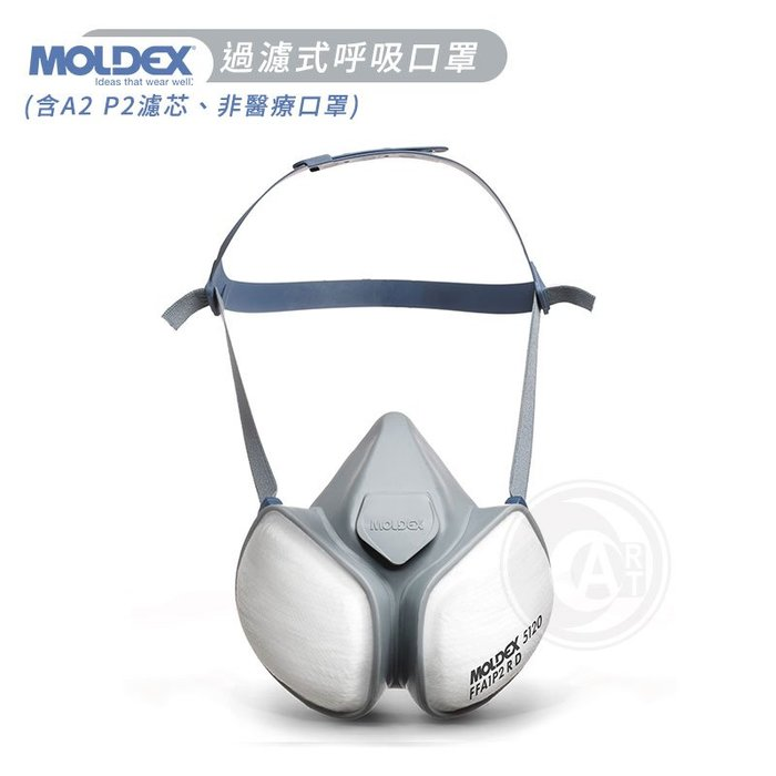 『ART小舖』Moldex Mask過濾式呼吸口罩(含A2 P3濾芯) 不可替換濾芯 非醫療用 噴漆專用防粉塵 單個