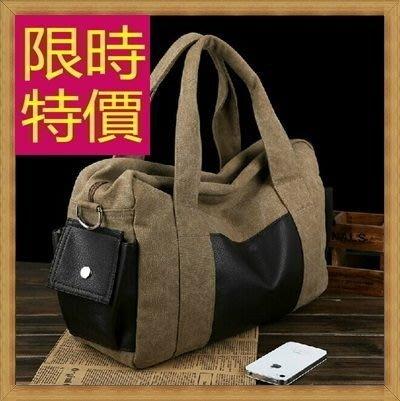 帆布手提包-大容量旅行出遊攜帶方便側背男包包6色(小)59j81【日本進口】【巴黎精品】