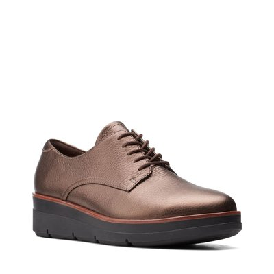 【英國代購】① Clarks Shaylin Lace Bronze Metallic Leather 售價4580元