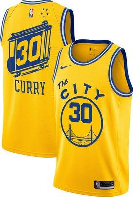 南◇2019 11月 NIKE SWINGMAN NBA 黃色 籃球 籃球衣 勇士 CURRY BQ8109-729