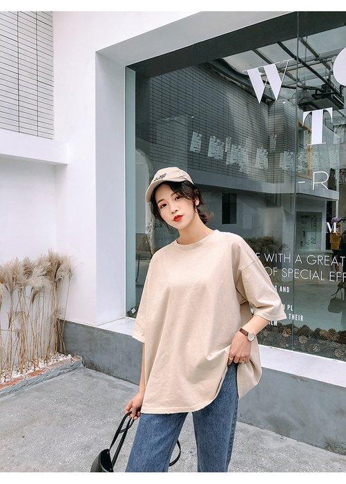 FINDSENSE G6 韓國時尚潮流 2019夏季新款港味寬鬆百搭後背印花圓領T恤短袖T恤短T