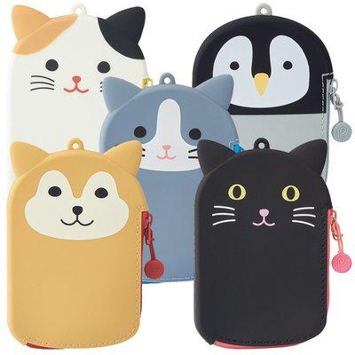*Gladness day 日韓代購* 預購 日本 SMART FIT 動物系列 矽膠票卡夾 零錢包 萬用小包