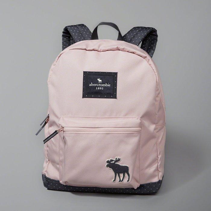Maple麋鹿小舖 abercrombie&fitch * a&f 女童款粉色大麋鹿LOGO後背包* ( 現貨 )