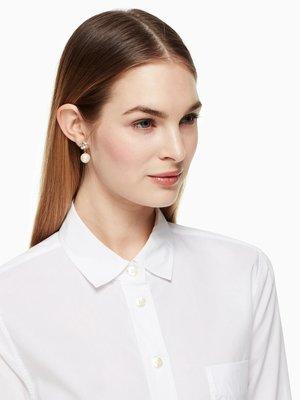 ╭☆包媽子店☆Kate Spade lady marmalade drop pearl earrings 鉆球耳墜珍耳環