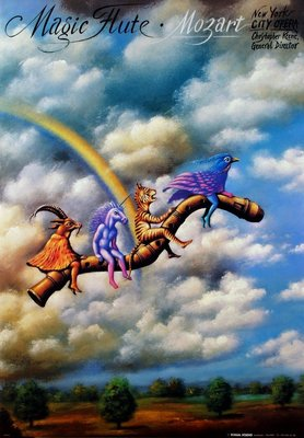 奇幻絕美波蘭原版海報 - 魔笛 (Magic Flute) - 波蘭原版歌劇海報 (1993年)