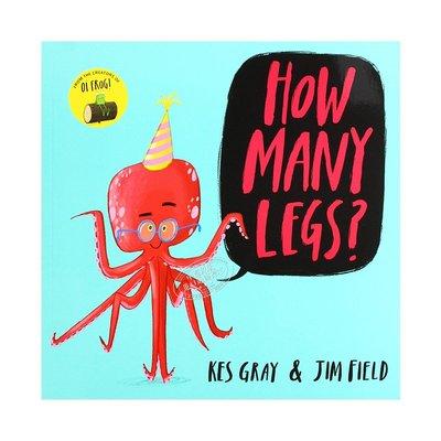 有多少條腿 英文 How Many Legs? 數數啟蒙 認知識物 3-6歲 幽默故事繪本