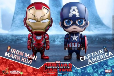 Hottoys Cosbaby set Civil war 美隊內戰套裝 hot toys HT