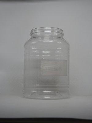 全新塑膠桶 4.5公升塑膠罐 全新品    平蓋, 食品級 糖果罐 置物罐