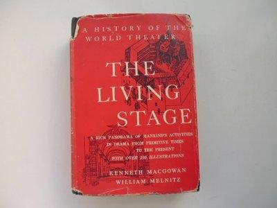 ///李仔糖舊書*1955年美國英文原版.THE LIVING STAGE.A HISTORY OF THE WORLD