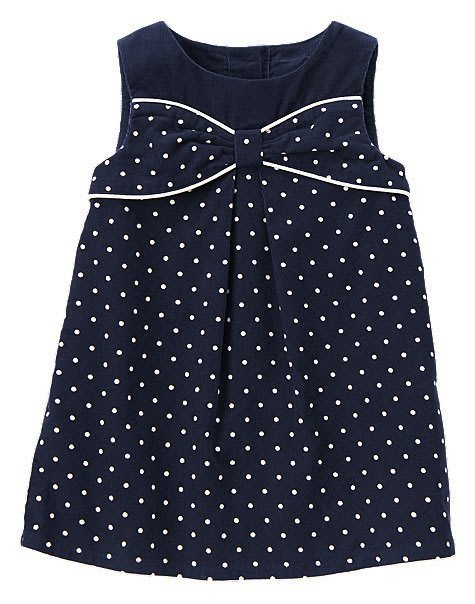 美國GYMBOREE正品 Polka Dot Smock Top蝴蝶結點點背心裙洋裝 4T..售200元