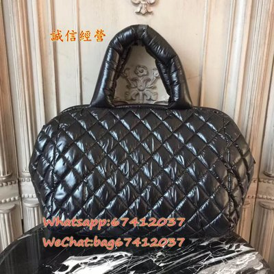 Chane Cocoon系列羽絨保齡球包,非常特別的一款羽絨保齡球包 超級實用 羽絨面料方便攜帶輕巧。size33x19x27cm