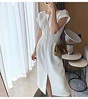全新 MaxMara 大牌設計師同款 連身裙 收腰 皺褶 無敵顯瘦 馬甲感 歐美 韓系 ZARA ASOS
