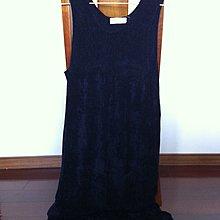 深藍色連身洋裝/孕婦裝