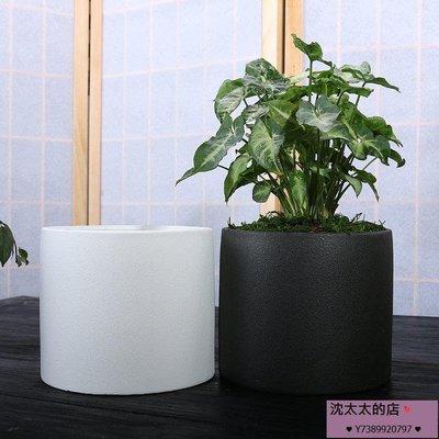 [2件免運]歐式花盆陶瓷特大號有孔花盆粗陶高檔綠蘿吊蘭盆栽花器
