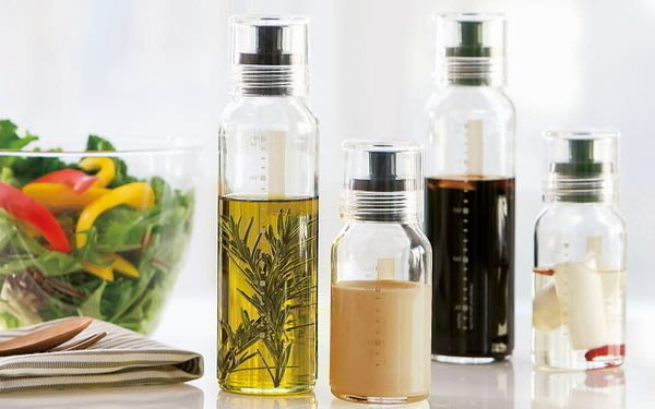 發現花園 日本選物 ~日本製 Hario 玻璃 醬油瓶 油醋瓶  醬料調味瓶~小綠/小黑