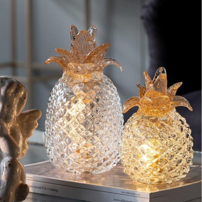 法式餐桌藝術小物 LED玻璃浪漫夜燈 USB通電即可亮