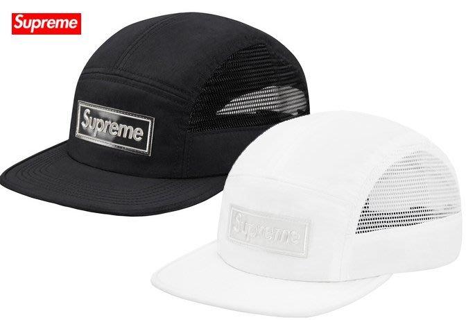 【超搶手】2015 春夏 Supreme Side Mesh Reflective Logo Camp Cap 五分割帽