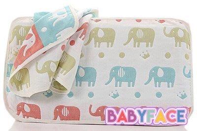 BabyFace【五層紗】大象綿羊紗布料枕巾小枕頭巾可當洗臉巾健康舒適環保自用送禮可批發(27*52cm)