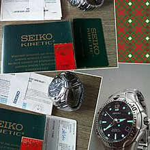 中古 精工 Seiko SMA003P1 Men's Kinetic Auto Relay Watch 動能