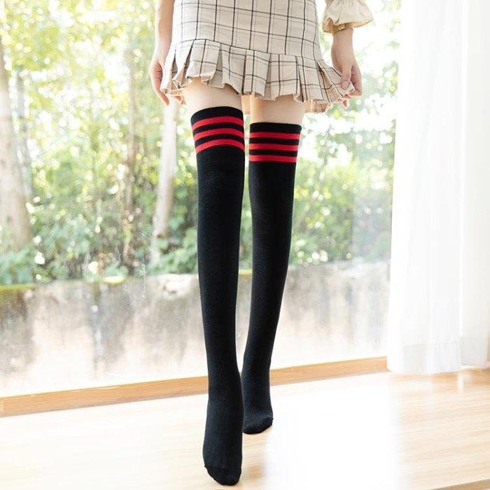 過膝襪 2雙過膝襪女日系長筒襪黑色高筒潮韓版秋長腿長襪子女韓國學院風