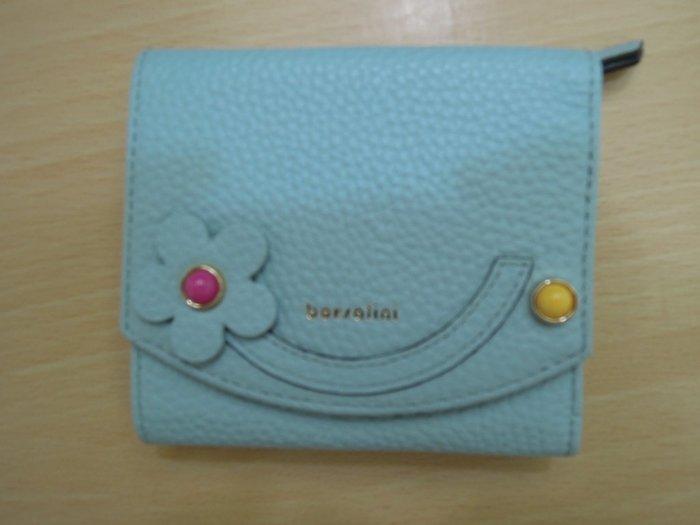 borsalini花漾彩石短皮夾-藍色