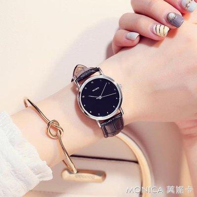 手錶 韓版時尚潮流簡約情侶手錶一對學生休閒簡約皮帶錶男女對錶防水款