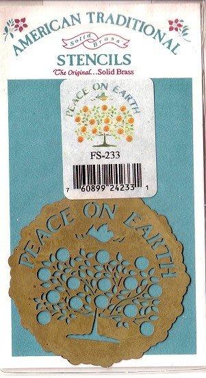 陽光一品DIY卡片印章專賣店~~銅片特價~世界和平-#FS-233#~美國製絕版品