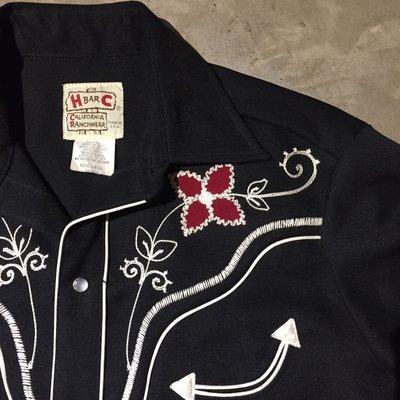 70's H Bar C Western Shirt 西部襯衫 刺繡 vintage 古著 made in USA