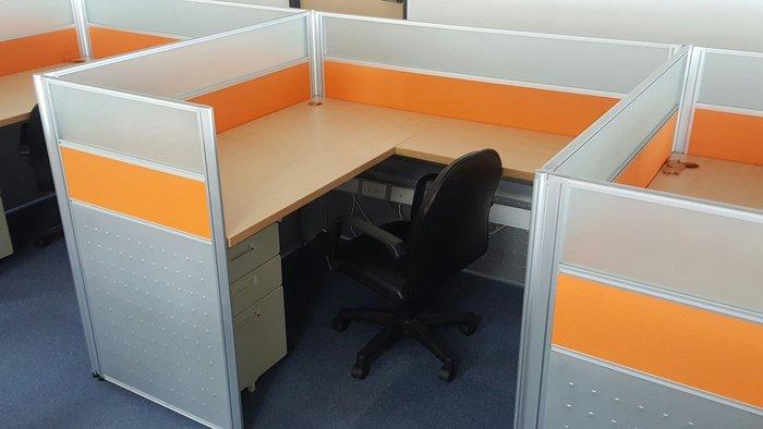使用不到半年-----9成新 高級H型辦公屏風 震旦行 高級辦公屏風 辦公桌 桌面140公分 2人對坐 2人坐